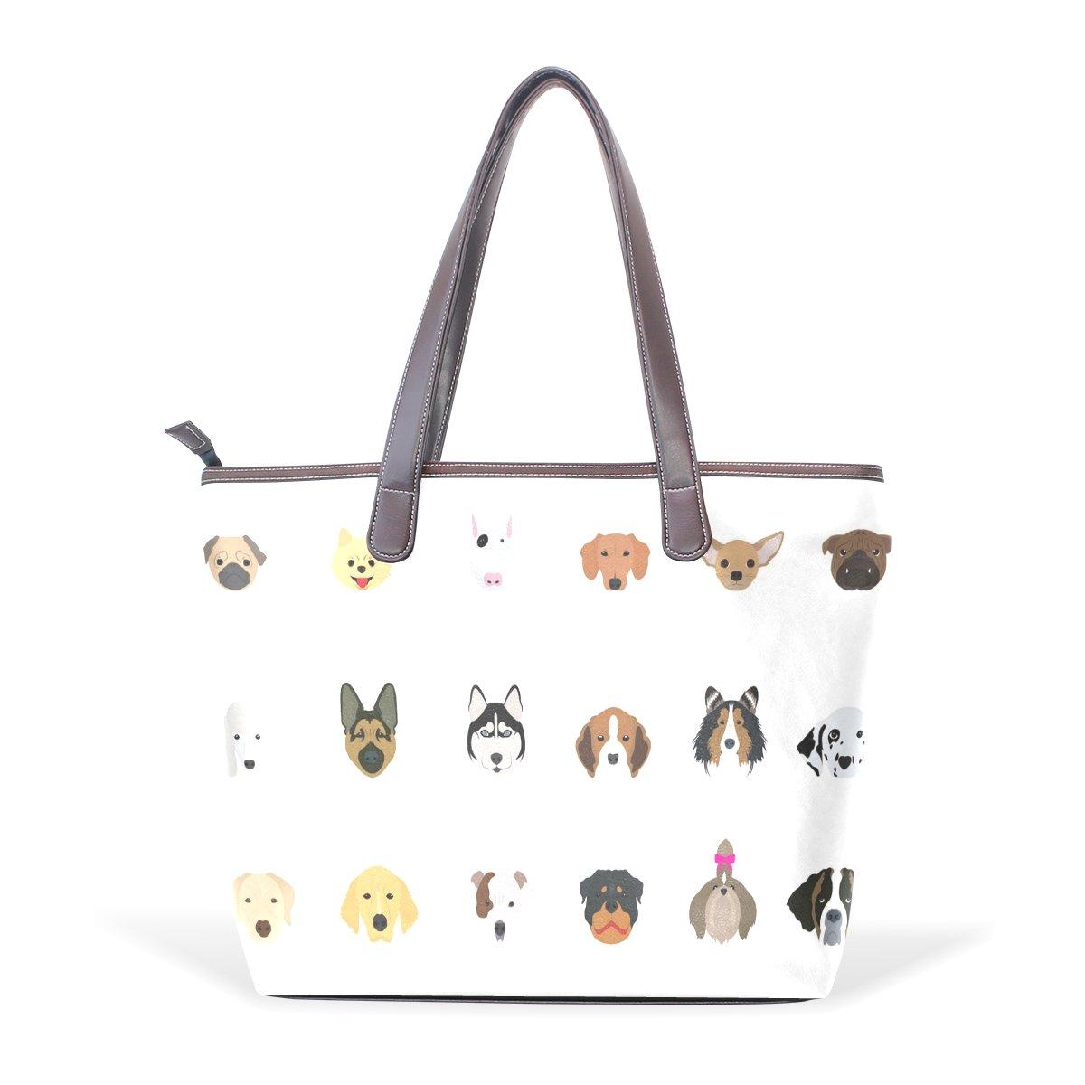 Ye Store Animal Paradise Lady PU Leather Handbag Tote Bag Shoulder Bag Shopping Bag