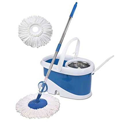 Gala Jet Spin mop with stainless steel wringer jumbo wheels and 2