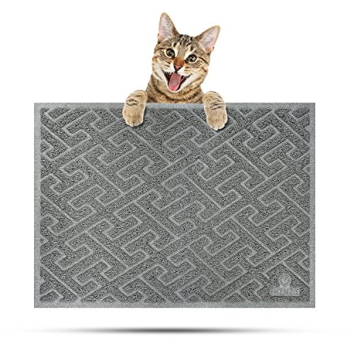 Vac Non (EHZNZIE Cat Litter Mat Non-Slip (35''x23'') Traps Litter from Box and Paws,Scatter Control and Phthalate & BPA Free,Soft on Sensitive Paws and Easy to Clean-(Light Grey))