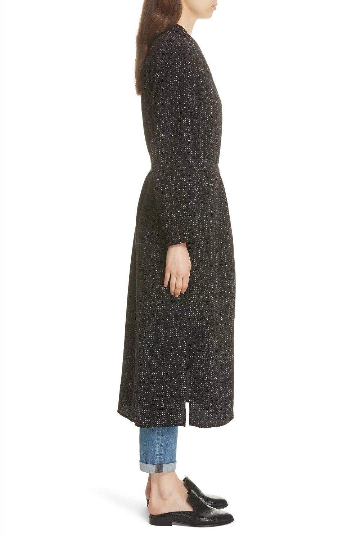 Eileen Fishen Black Morse Code Tencel//Viscose Kimono Jacket Size Large MSRP $348