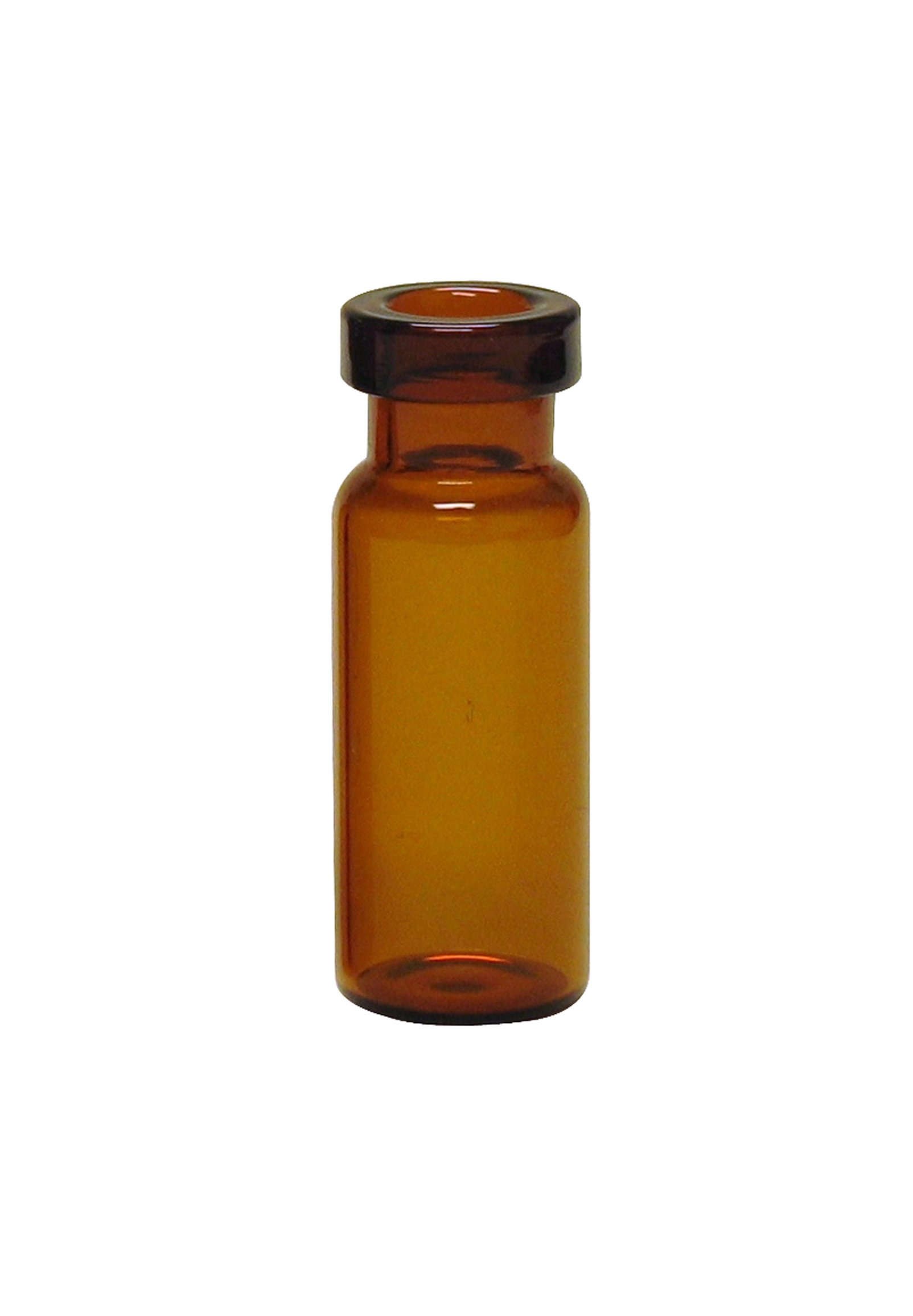National Scientific Amber Glass I-D Target LoVial, Flat Base, 2ml, 11mm Crimp Top Vial, 12x32mm (Case of 2000)