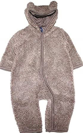 df557e6d2 Image Unavailable. Image not available for. Color: Baby Gap Infant Boy Girl  Brown Faux Sherpa Hooded Snowsuit Bunting ...