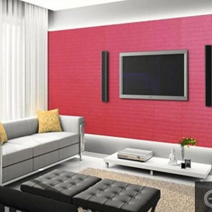 Amazon.com: Kasliny 3D Brick Wall Stickers Self-adhesive Panel Decal ...