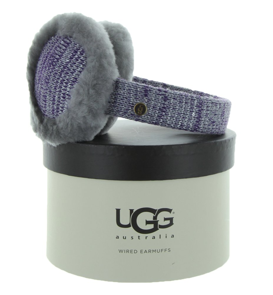 UGG Australia Womens Classic Marled Tech Earmuff with Sequins Grey Heather One Size
