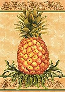 "Piña fruta decorativa jardín bandera 12,5""x 18"" Briarwood Lane"