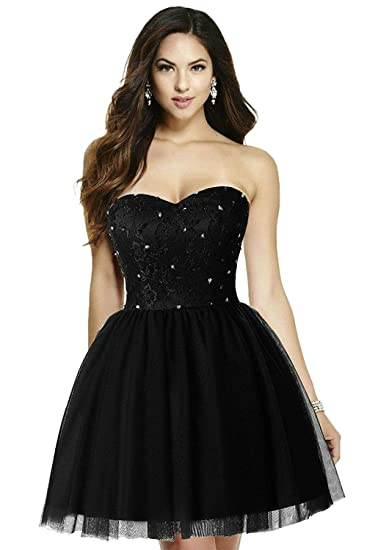 Dingzan Puffy Tulle Ball Homecoming Dresses Prom Gowns Short At