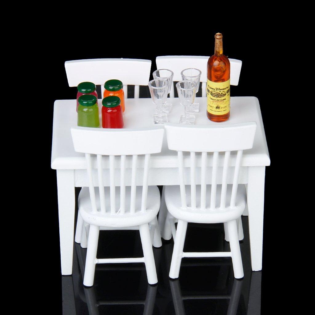 tomar hasta un 70% de descuento Baoblaze 4 4 4 Conjuntos de 1:12 Juguete Mini Juego de Gabinetes de Cocina de Madera de Casa de Muñeca  marca en liquidación de venta