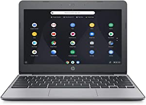"2018 Newest HP 11.6"" HD Chromebook with 3X Faster WiFi - Intel Dual-Core Celeron N3060 up to 2.48 GHz, 4GB Memory, 16GB eMMC, HDMI, Bluetooth, USB 3.1, 12-Hours Battery Life"