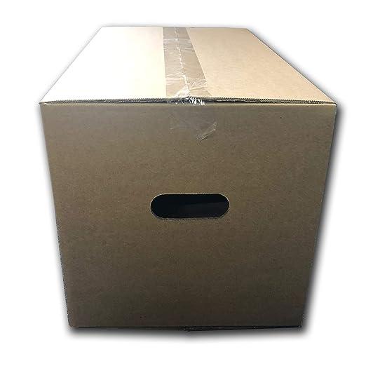 Pack de 10 Cajas Cartón Mudanza con Asas - (55x35x35) - Canal Doble 5 Capas de Alta Calidad Reforzado - Muy Resistentes y Reutilizables - Disponible ...