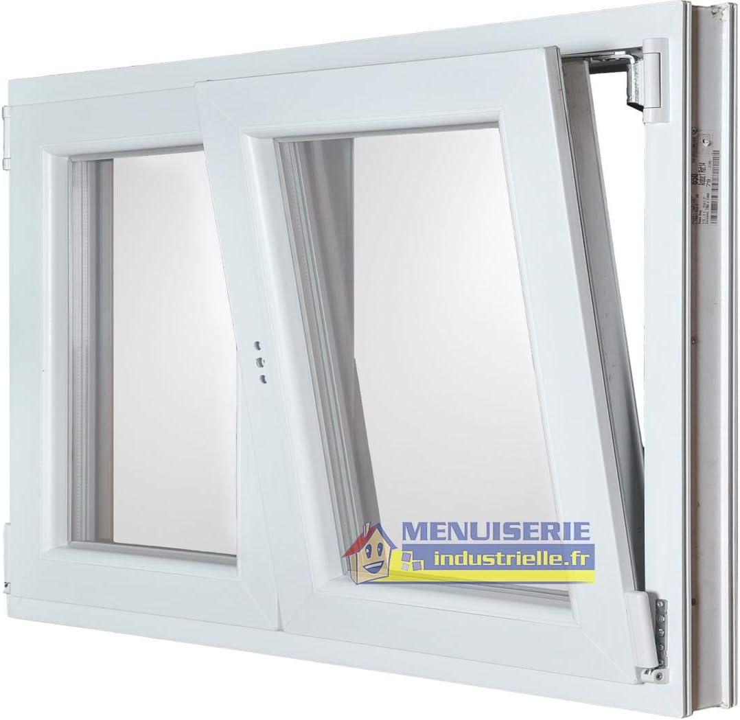 Menuiserie Bèze – Ventana 2 puertas PVC oscilante – 135 x 120 cm: Amazon.es: Bricolaje y herramientas