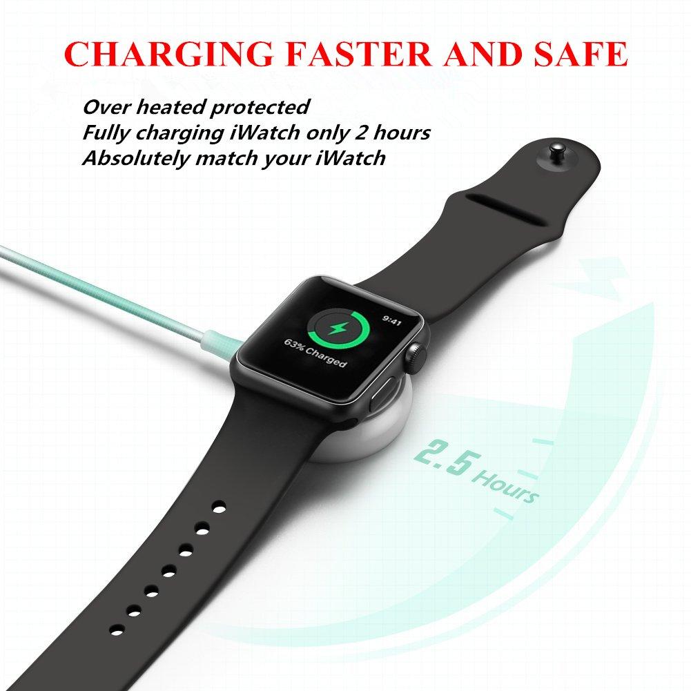 Amazon.com: ATETION Reloj Cargador Pad y iWatch Magnético ...