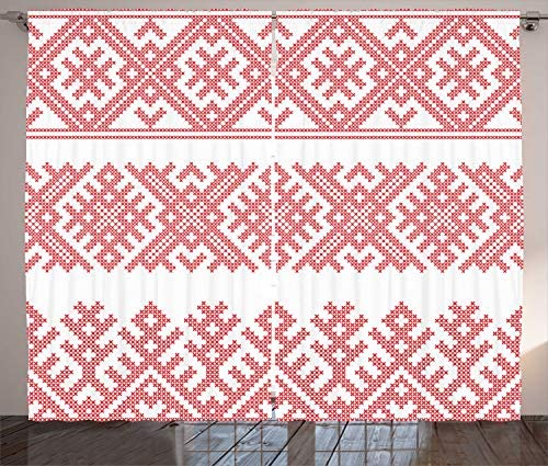 Ambesonne Russian Curtain