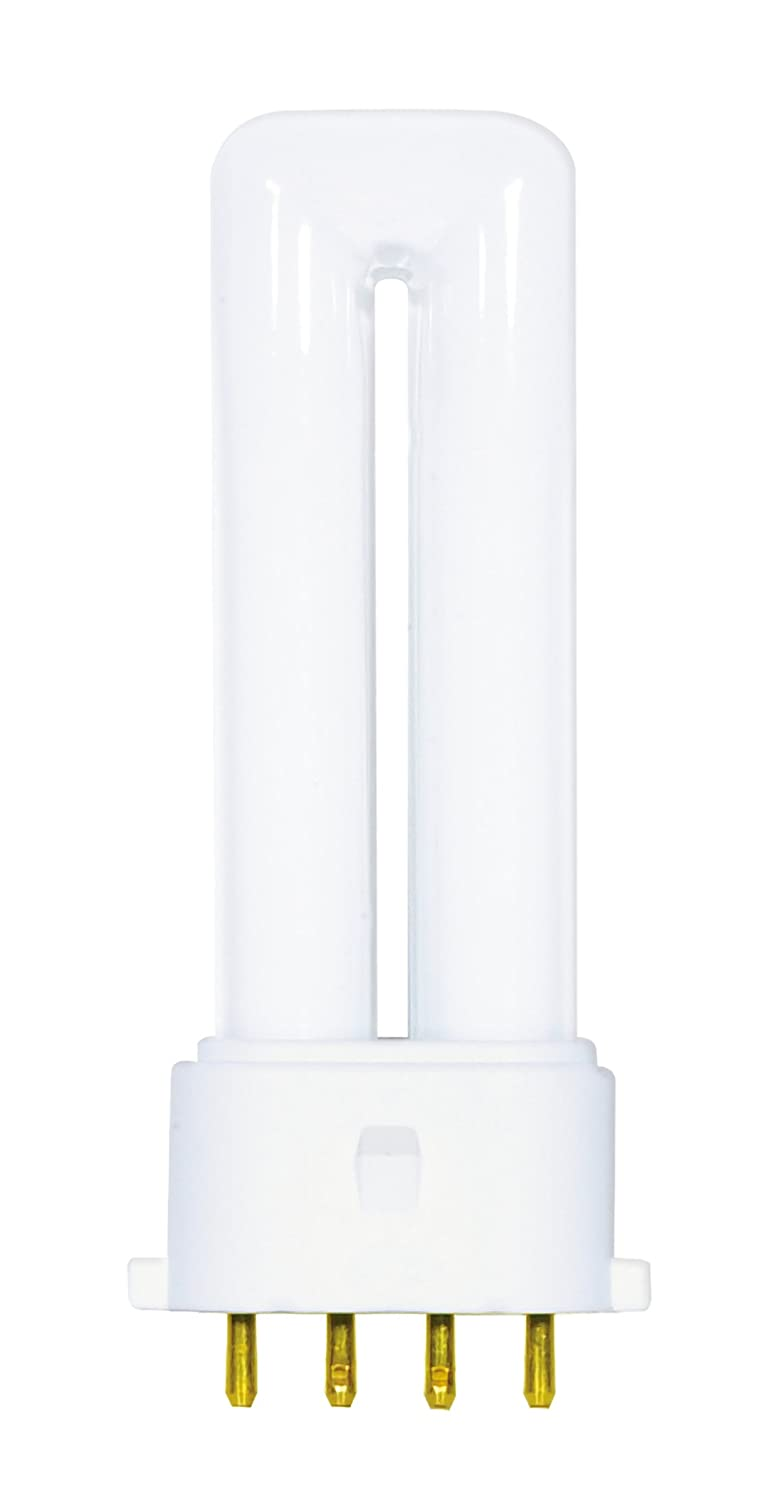 Satco S8364 2700K 9-Watt 2G7 Base T4 Twin 4-Pin Tube for Electronic and Dimming Ballasts Satco Products