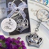 156 Royal Favor Collection Crown Design Key Ring Favors