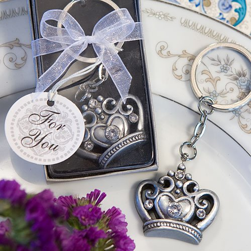 Castle Design Keychain - Royal Favor Collection Crown Design Key Ring Favors (1)
