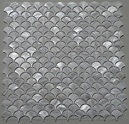 Amazon Com White Fish Scale Shell Mosaic Tile Mother Of Pearl