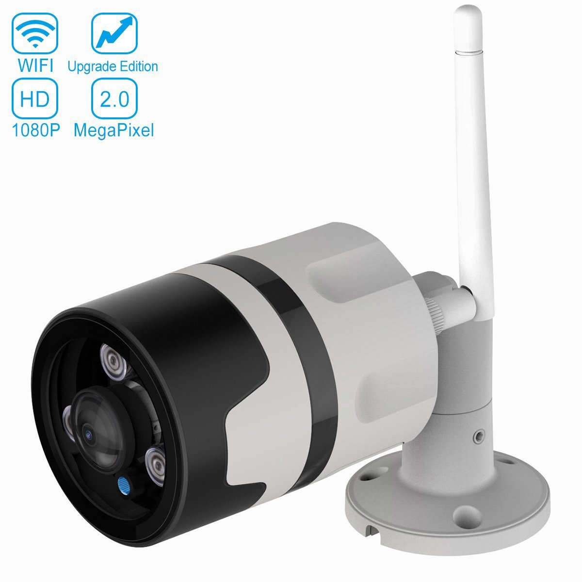 Vstarcam 無線防水 wifi カメラ 屋外カメラ 180°超広角カメラ 防犯カメラ 監視カメラ 1080P 200万高画素 WIFI HD 有線 無線 128G SDカード 15M夜間IP66 遠隔監視カメラ B07D4KVNMR