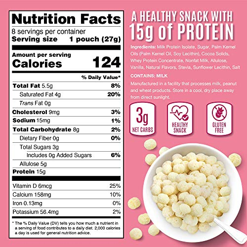 Snack House Puffs High Protein Low Carb Keto Snacks | Gluten Free, Soy Free, Peanut Free - Sweet Diet Food for Adults and Kids - Wildberry Cheesecake (8-Pack)