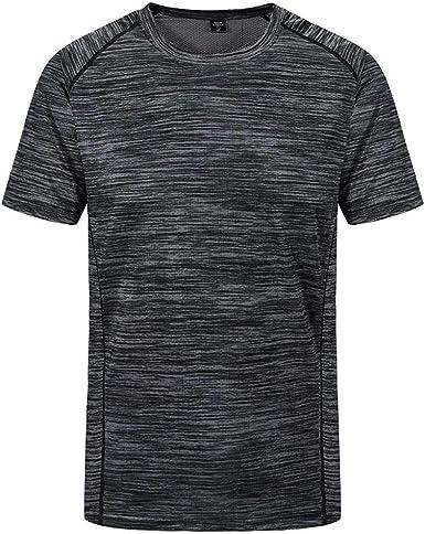 Camiseta Hombre Verano Manga Corta Tallas Grandes Gym Chándal de ...