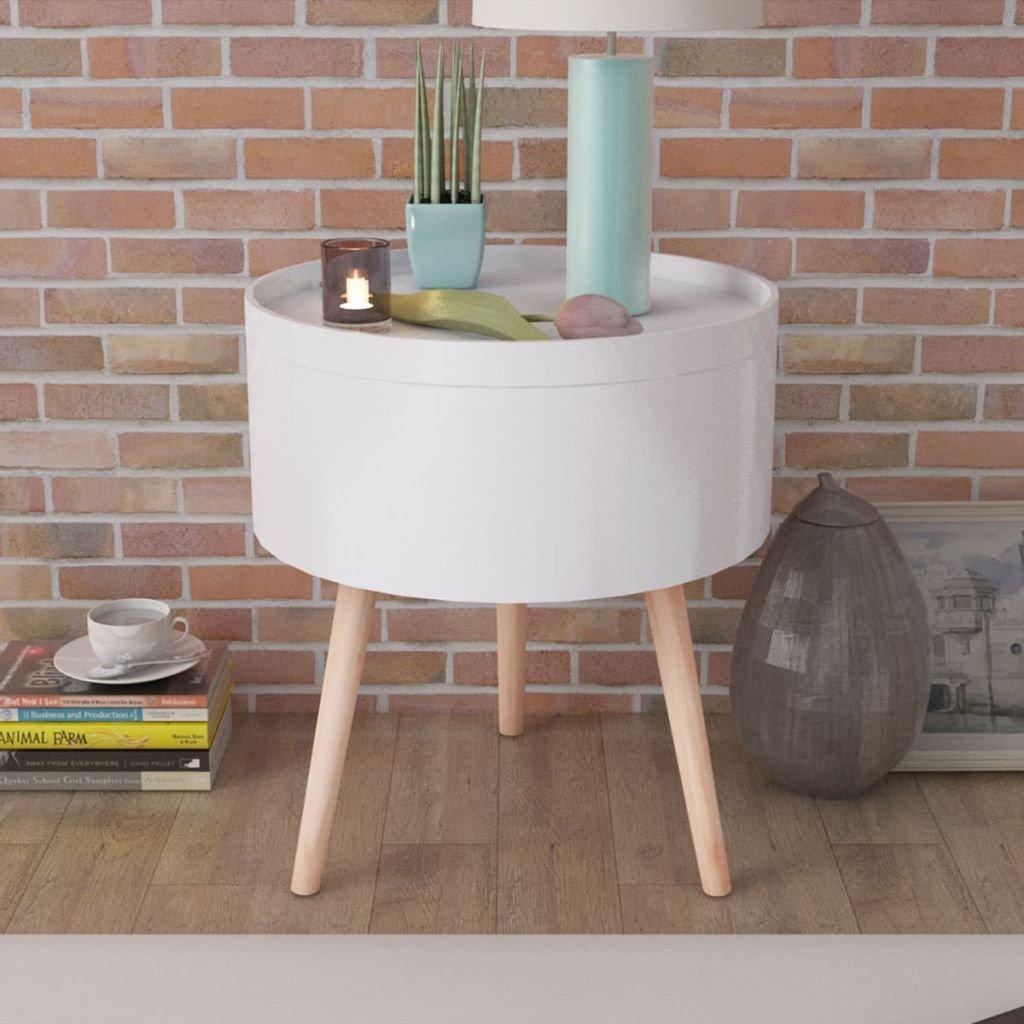 vidaXL Tavolinetto con Vassoio da Portata Rotondo 39,5x44,5 cm Nero