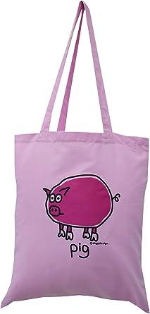 Light Pink PIG 100/% cotton NEW TOTE BAG