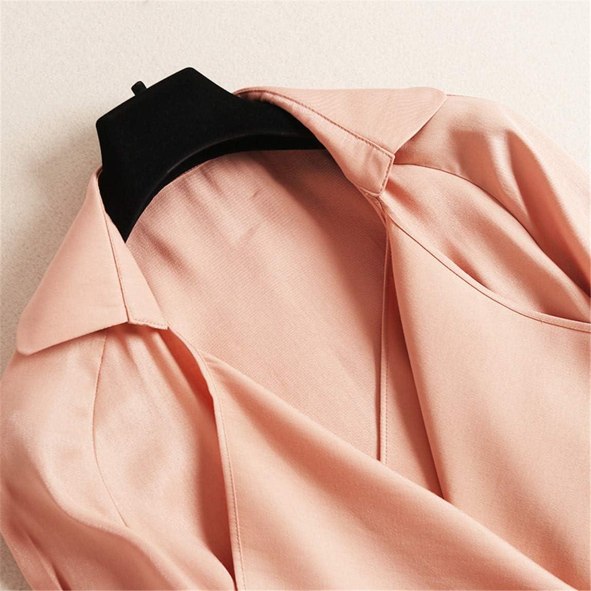 Xiaoai's shop Trench-Coat Long pour Femme, Coupe-Vent Femme mi-Long .B
