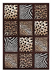 Amazon Com Modern Animal Prints Area Rug 3 Ft 10 In X 5