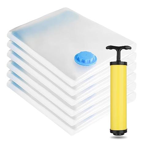 "Hand Pump for Travel Space Saver Seal Bags 6 Jumbo Vacuum Storage Bags 30/""x40/"""