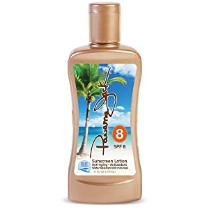 Panama Jack Sunscreen Tanning Lotion - SPF 8, Reef-Friendly, PABA, Paraben, Gluten & Cruelty Free, Antioxidant Moisturizing Formula, Water Resistant (80 Minutes), 6 FL OZ (Pack of 6)