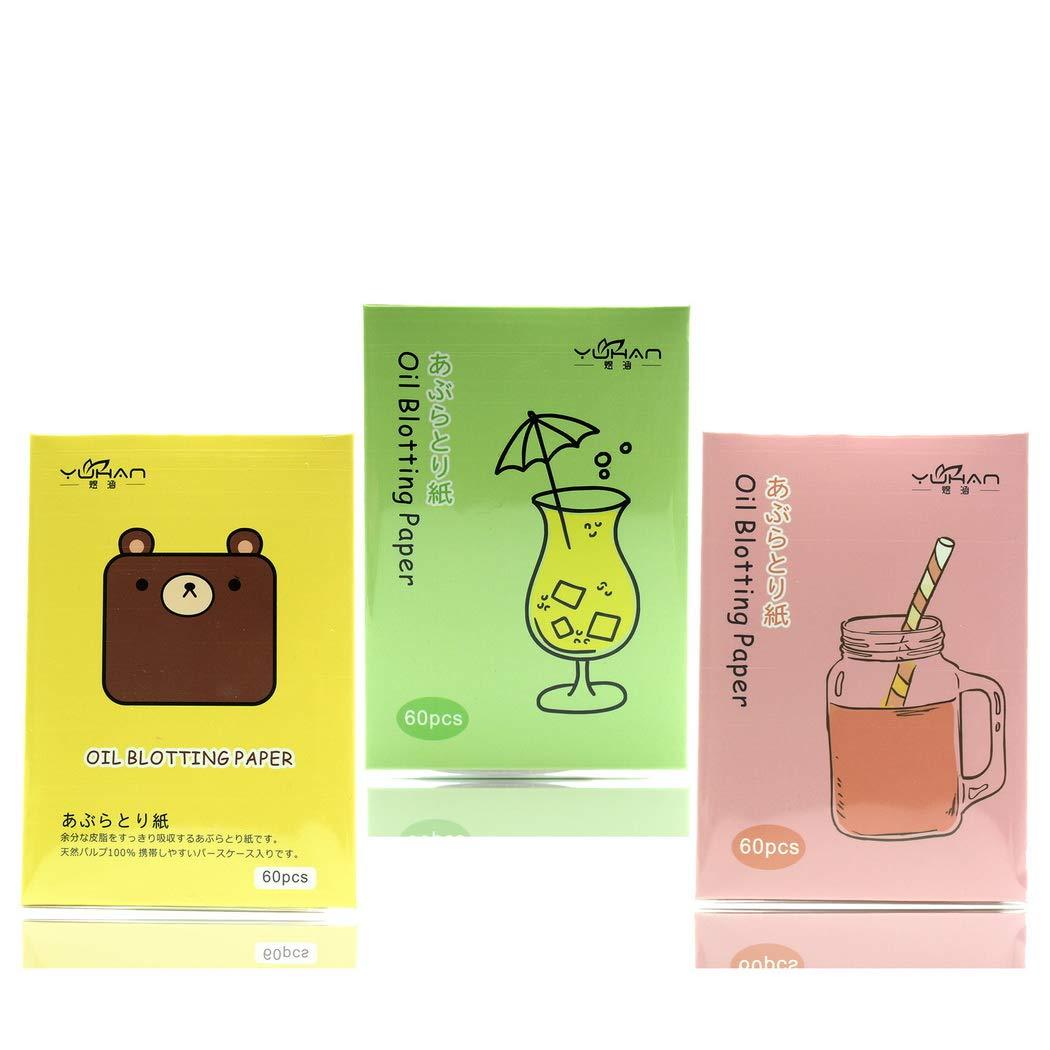 oplon 60pcs Oil Absorbing Tissues Öl-Löschpapier Öl Kontrolle Weich und sanft Ölabsorbierende Blätter für Gesicht Öl-absorbierende Gesichtspapier für die Reinigung erfrischende Make-up Einstellungen