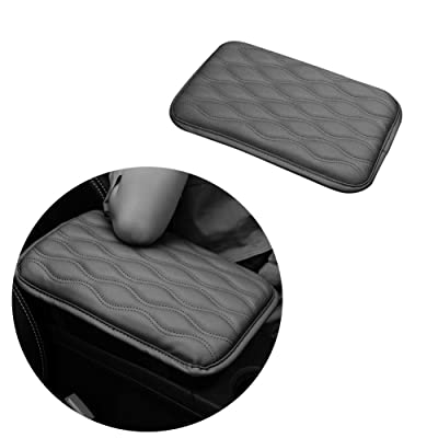 WeTest Premium Car Center Console Cover Armrest Pads for Most Vehicle,Car Waterproof Center Console Protector Cover (Grey): Automotive