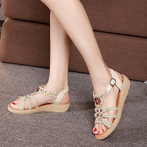 slip Beige comfortable L Beige women Summer and Female Leisure 245mm PENGFEI flat EU39 sandals brown Shopping sandals Pregnant Non Beige slippers UK6 Color Size vxwzTq