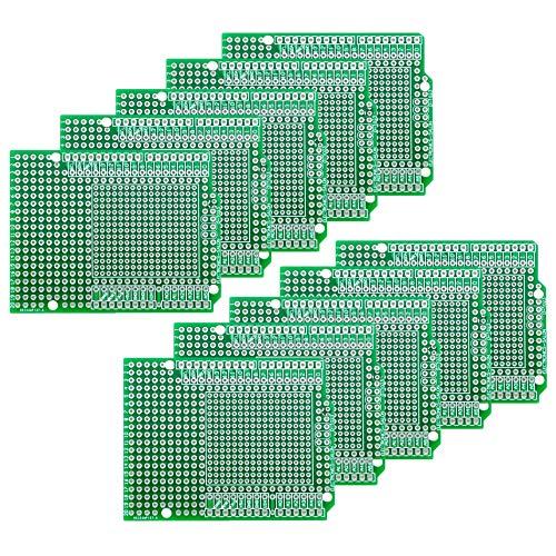 Board Shield - Electronics-Salon 10PCS Prototype PCB for Arduino UNO R3 Shield Board DIY, Combo 2mm+2.54mm Pitch.
