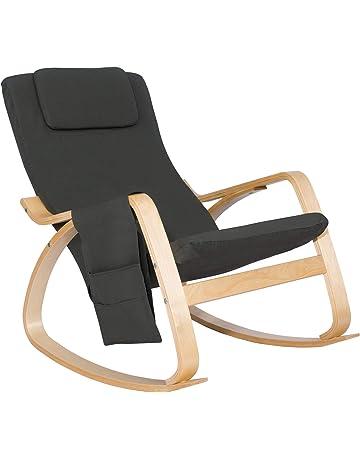 WOLTU 1127 Fauteuil A Bascule Rocking Chair Avec Repose Tete Relax Chaise