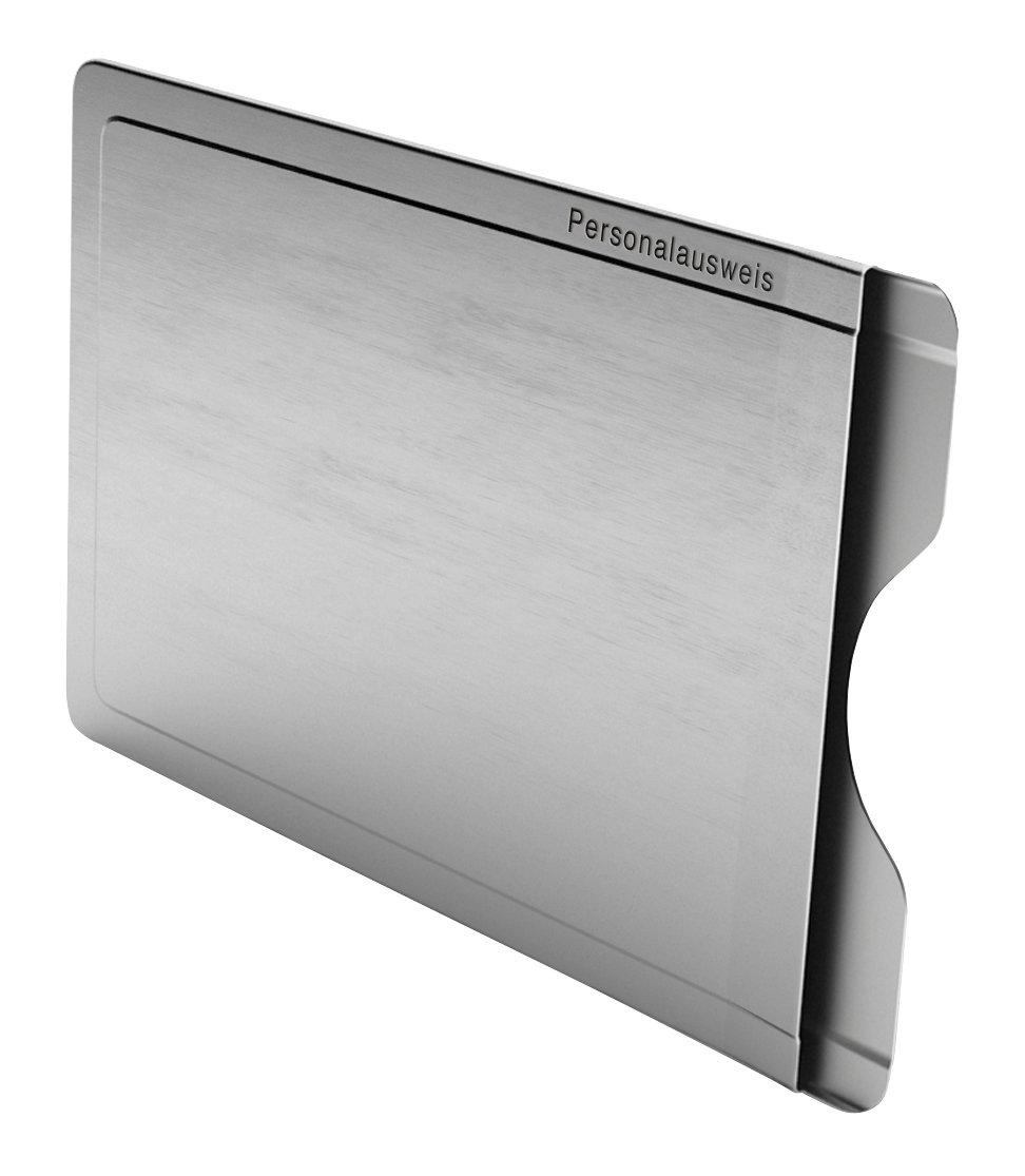 CardTresor Note Kartenschutzhülle mit Randbeschriftung Personalausweis, RFID/NFC-Schutz BMK Innovationen EC006AP