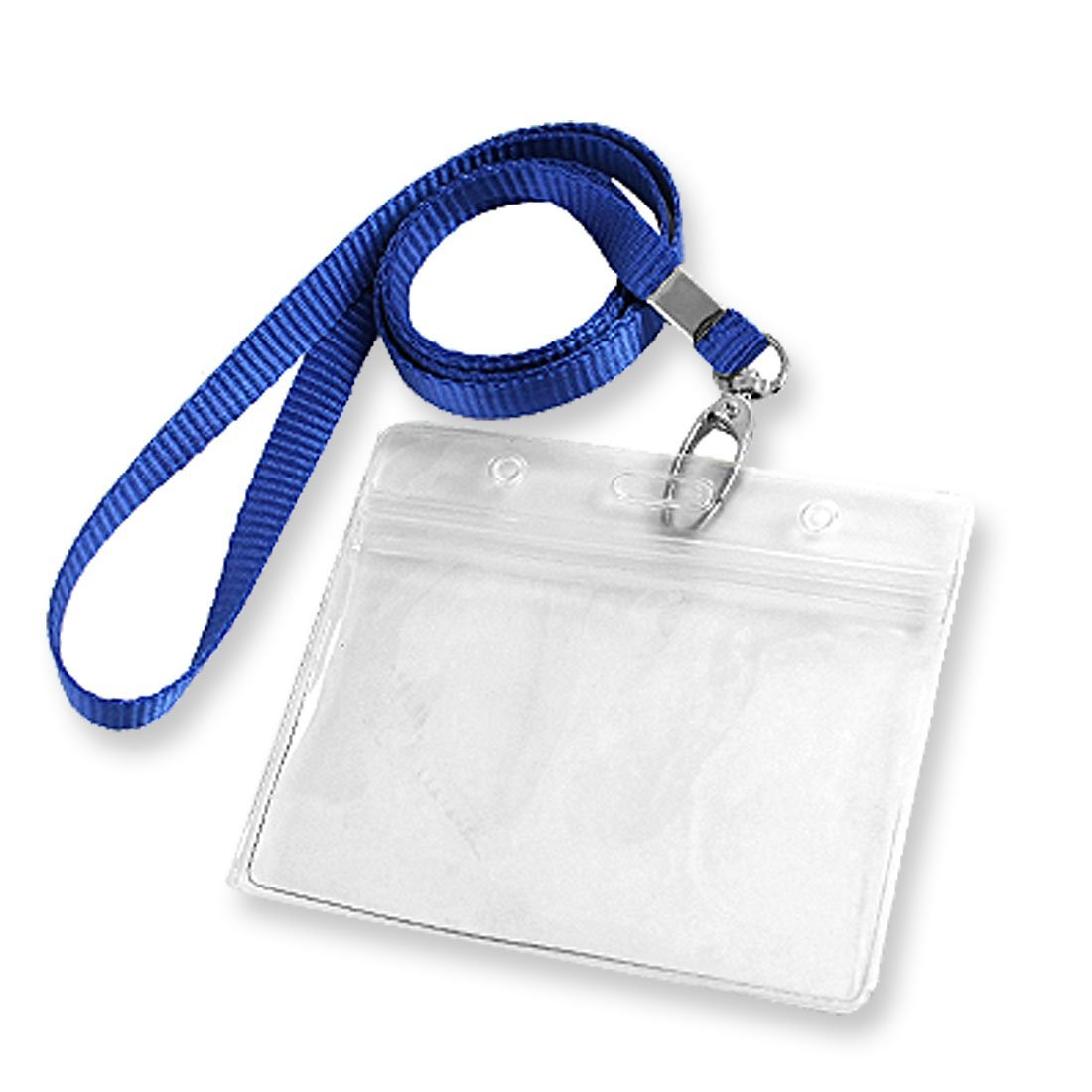 Uxcell Office School Name ID Card Horizontal Holder, 2-Piece, Blue