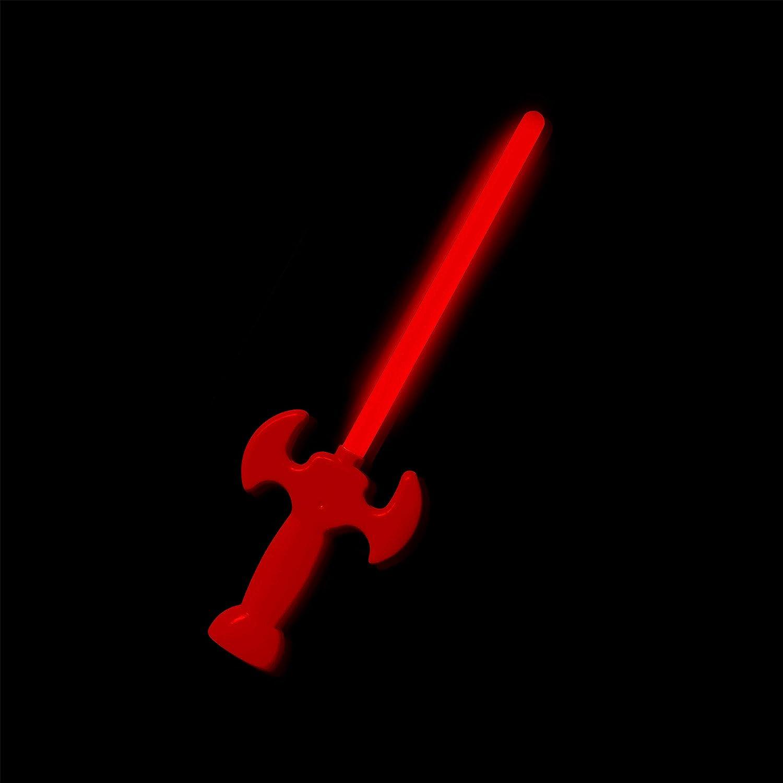 KNIXS 24-teiliges Set 12x Leuchtschwerter//Knicklicht-Schwerter in rot und gr/ün leuchtend ca 30 cm lang ideal f/ür Party oder Geburtstag wiedernachf/üll- und wiederverwendbar