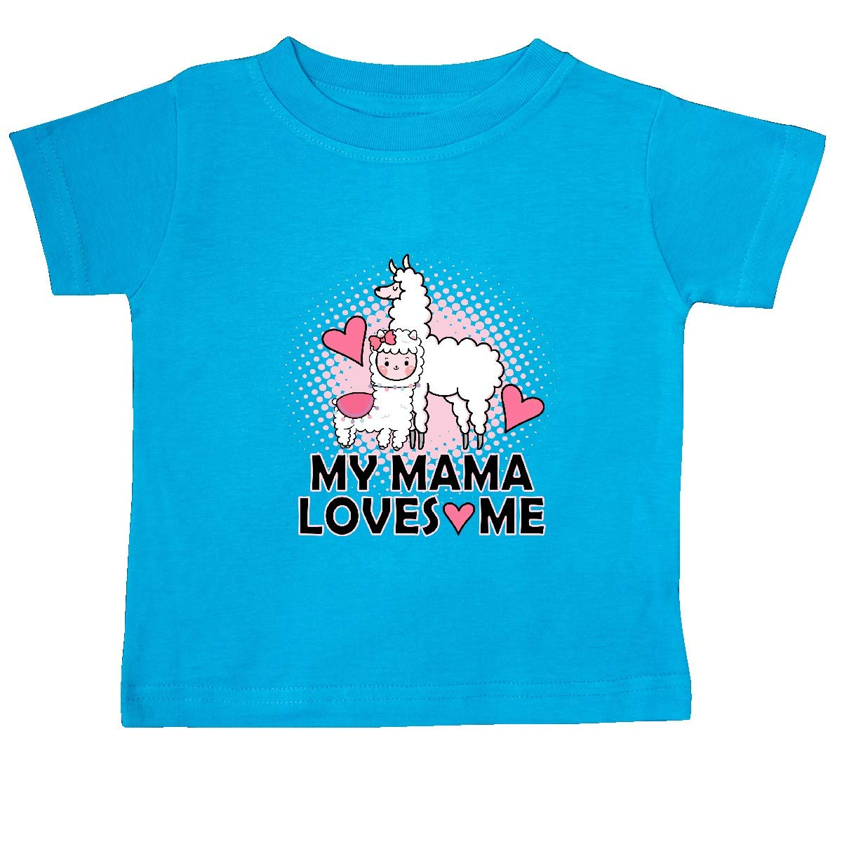 inktastic My Mama Loves Me Llama Baby T-Shirt