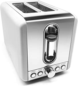Toasters 2 Slice Best Rated Prime,Stainless Steel,Bagel Toaster - 6 Bread Shade Settings,Bagel/Defrost/Reheat/Cancel Function,1.5in Wide Slots, Removable Crumb Tray,for Various Bread Types (Sliver)
