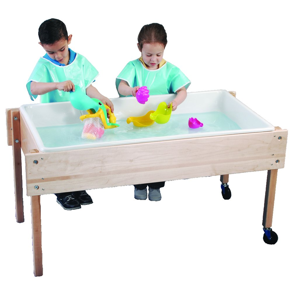 Mobile Sand & Water Table with Birch-Plywood Top by Constructive Playthings (Image #1)