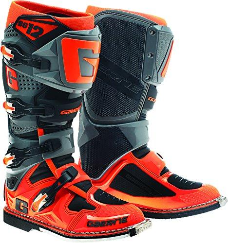 Gaerne SG-12 Boots Gray/Orange (Gray, 12) from Gaerne