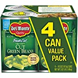 Del Monte Canned Fresh Cut Blue Lake Green Beans, 14.5-Ounce, 4-Pack