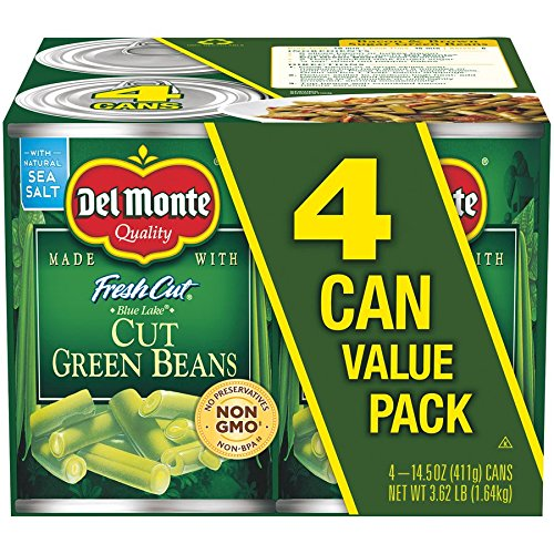 Green Giant Vegetables - Del Monte Canned Fresh Cut Blue Lake Green Beans, 14.5-Ounce, 4-Pack