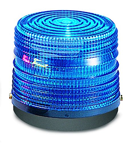 Federal Signal 141ST-024B Electra Flash Strobe Warning Light, Single Flash, Surface Mount, 24 VDC, Blue