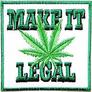MAKE IT LEGAL Weed Marijuana Rasta Rastafari Jamaica Raggae Africa Army Military Logo Biker Jacket T shirt Patch Sew Iron on Embroidered Badge Custom