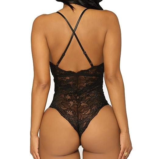 ❤ Body de Encaje de Mujer Sexy, Pijama de una Pieza Lencería Ropa de Dormir Absolute: Amazon.es: Ropa y accesorios