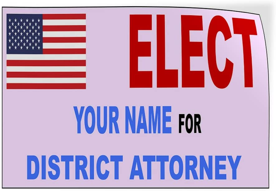 Custom Door Decals Vinyl Stickers Multiple Sizes Elect Name for Position Flag Blue Red Political Elect Signs Outdoor Luggage /& Bumper Stickers for Cars White 54X36Inches Set of 5