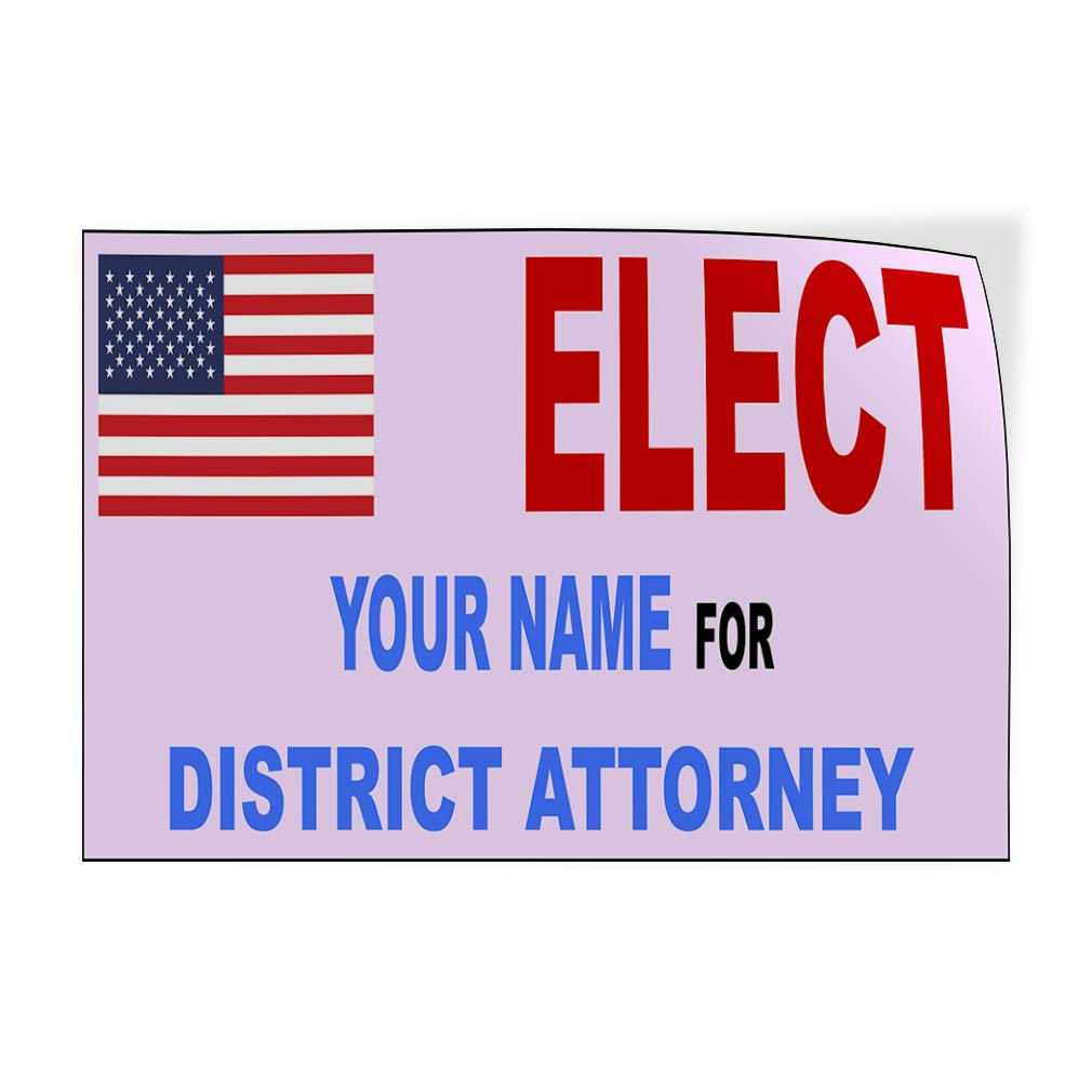 Custom Door Decals Vinyl Stickers Multiple Sizes Elect Name for Position White Black I Political Elect Signs Outdoor Luggage /& Bumper Stickers for Cars White 72X48Inches Set of 2