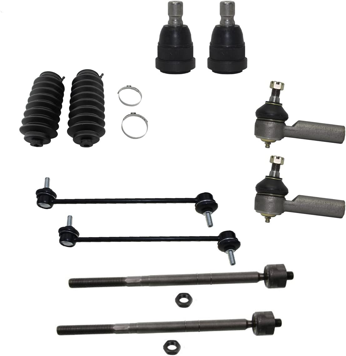 Detroit Axle 05-09 Tribute Sway Bars 10pc Front Lower Ball Joints - 05-09 Mariner Inner Otuer Tie Rods w//Rack Boots Kit for 2005 2006 2007 2008 2009 Ford Escape - NO HYBRID
