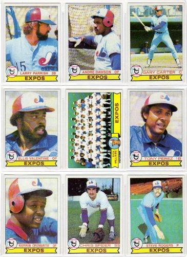 Montreal Expos 1979 Topps Baseball Set Set (26 Card Set) (Andre Dawson) (Larry Parrish) (Gary Carter) (Ellis Valentine) (Tony Perez) (Warren Cromartie) (Chris Speier) (Steve Rogers)